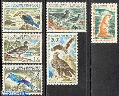 Birds and mammals 6v