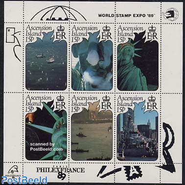World stamp expo 89 s/s