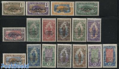 Moyen Congo overprints 17v
