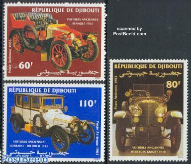 Automobiles 3v (Renault, Mercedes, lorraine-Dietri