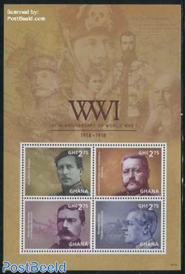 World War I 4v m/s