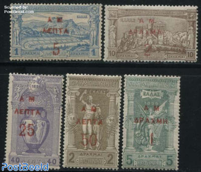 Olympic games, overprints 5v