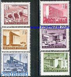 Definitives, buildings 6v