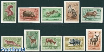 Forest animals 10v, imperforated