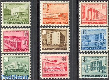 Definitives, buildings 9v