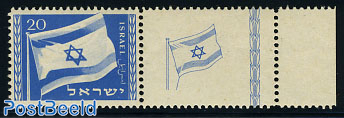 National flag 1v, tab on right side