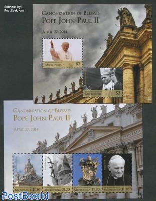Pope John Paul II 2 s/s