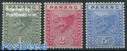 Pahang, Definitives 3v
