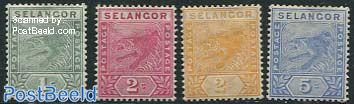 Selangor, Definitives 4v