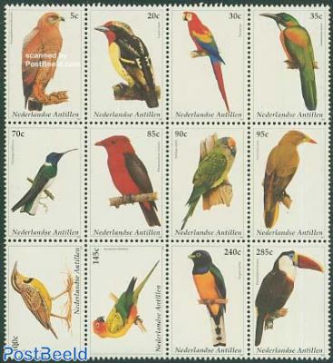 Birds 12v, sheetlet