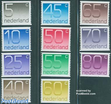 Definitives, coil stamps 11v