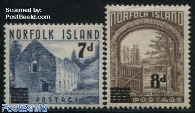 Definitives overprinted 2v
