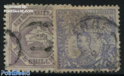 100 Years Crowncolony, WM square and circle, 2v