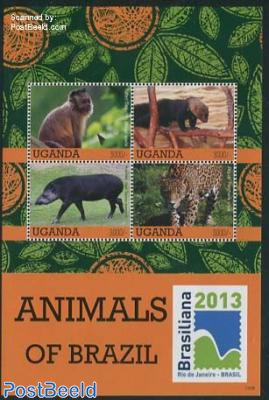 Animals of Brazil 4v m/s