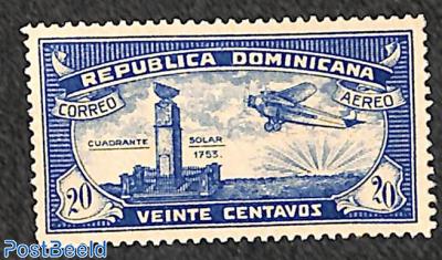 Airmail 20c, type II 1v
