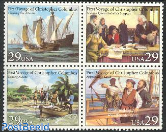Columbus first voyage 4v [+], joint issue Italy