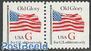 Old glory booklet pair (red G)