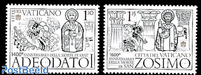 Holy popes Zosimo and Adeodato I 2v