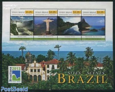 Union Island, Sites & scenes of Brazil 4v m/s