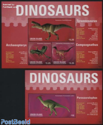 Union Island, Dinosaurs 2 s/s