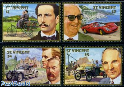 Automobile centenary 4v