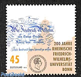 200 years Rheinische Friedrich-Wilhelms-Universität, Bonn 1v