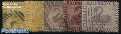Swan Definitives WM CA-Crown 5v